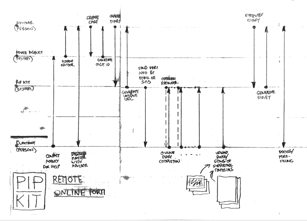 High-level process flow diagram for the online version of PIP Kit as a Service