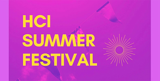 "Banner image of bunting with the words ""HCI SUMMER FESTIVAL"""