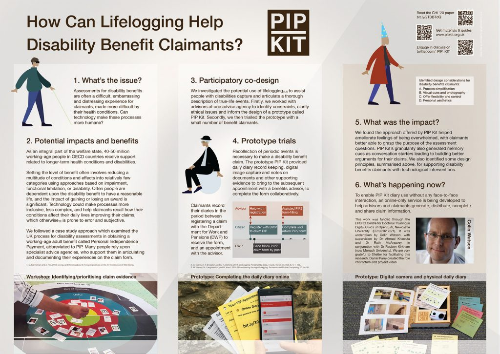 "Image of the poster ""How Can Lifelogging Help Disability Benefit Claimants?"""